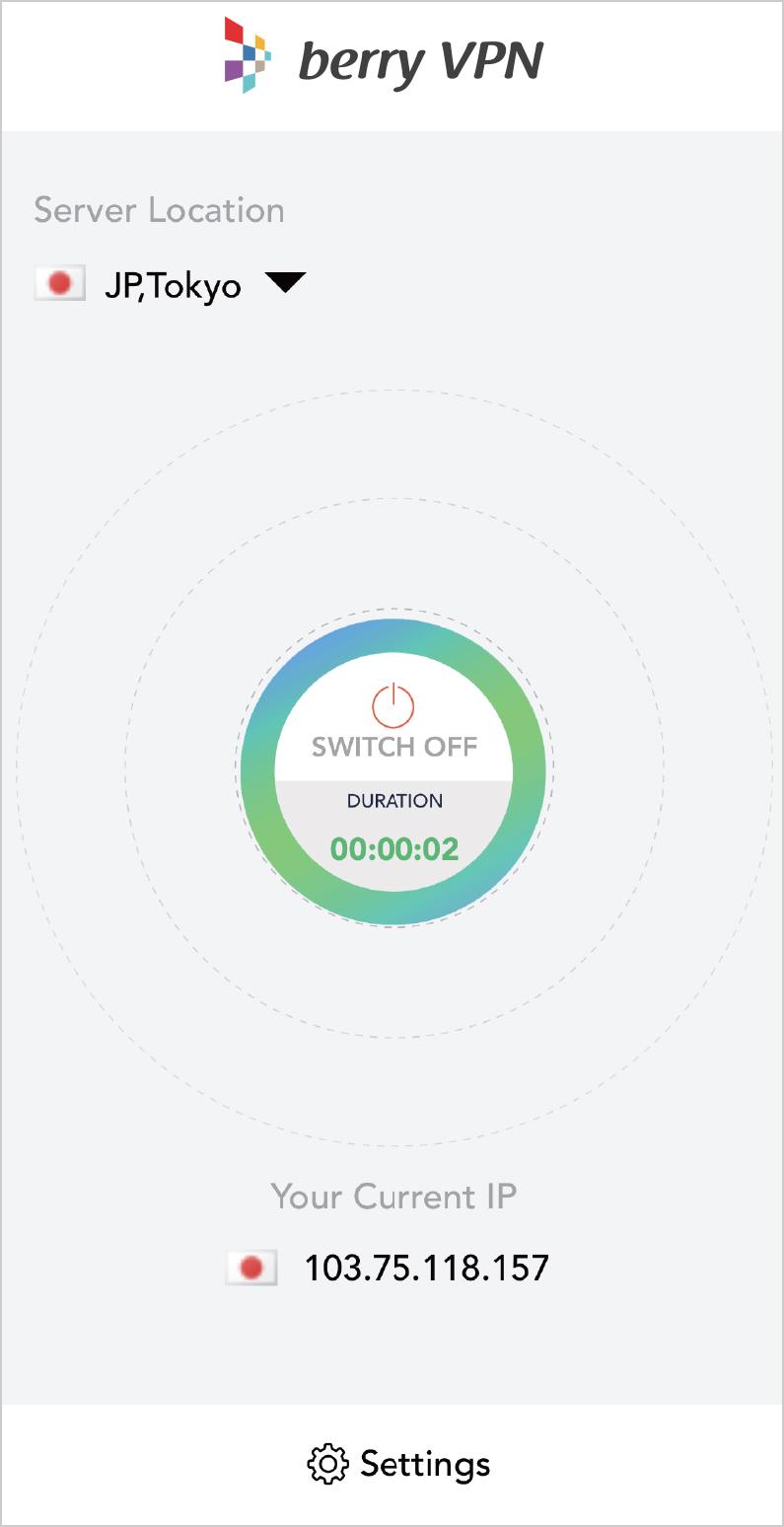 ④ SwitchをONにする。